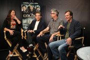 (L-R) TV Personality Camille Ford, actor Kevin Zegers, director Jeff Renfroe, and actor Bill Paxton attend 'The Colony' at The Movies On Demand Lounge during Comic-Con International 2013 at Hard Rock Hotel San Diego on July 19, 2013 in San Diego, California.