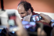 This Image was processed with digital filters) Luca Guadagnino walks the red carpet ahead of the 'Suspiria' screening during the 75th Venice Film Festival at Sala Grande on September 1, 2018 in Venice, Italy.