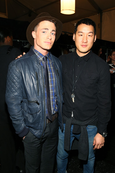 Colton Haynes - Backstage at the Richard Chai Show