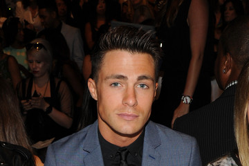 Colton Haynes Dennis Basso - Front Row - Mercedes-Benz Fashion Week Spring 2015