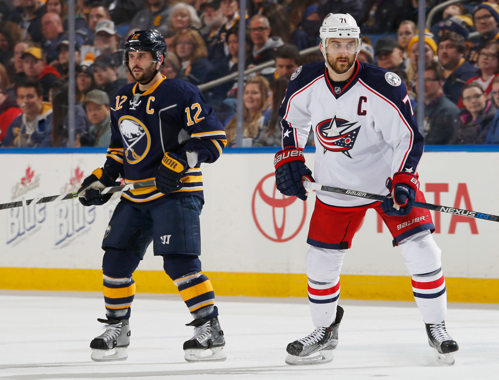 Nick Foligno in Columbus Blue Jackets v Buffalo Sabres - Zimbio