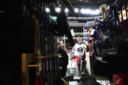 Sergei Bobrovsky #72 of the Columbus Blue Jackets leaves the ice following warm-ups prior to the game against the Philadelphia Flyers at the Wells Fargo Center on April 8, 2017 in Philadelphia, Pennsylvania.