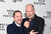 """Elijah Wood and director Ant Timpson attend the """"Come To Daddy"""" screening at the 2019 Tribeca Film Festival at SVA Theater on April 25, 2019 in New York City."""