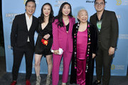 "(L-R) BD Wong, Teresa Hsiao, Awkwafina, Lori Tan Chinn, and Bowen Yang attend Comedy Central's ""Awkwafina is Nora From Queens"" Premiere Party at Valentine DTLAon January 15, 2020 in Los Angeles, California."