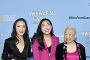 "(L-R) Teresa Hsiao, Awkwafina, and Lori Tan Chinn attend Comedy Central's ""Awkwafina is Nora From Queens"" Premiere Party at Valentine DTLAon January 15, 2020 in Los Angeles, California."