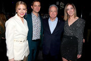 (L-R) Heléne Yorke, Chris Kelly, Lorne Michaels, and Sarah Schneider attend Comedy Central's 'The Other Two' series premiere party at Dream Hotel Downtown on January 17, 2019 in New York City.