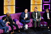 (L-R) Ken Jeong, Chris Redd, Jeff Ross and Blake Griffin react onstage during the Comedy Central Roast of Alec Baldwin at Saban Theatre on September 07, 2019 in Beverly Hills, California.