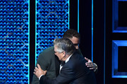 (L-R) Blake Griffin hugs Alec Baldwin onstage during the Comedy Central Roast of Alec Baldwin at Saban Theatre on September 07, 2019 in Beverly Hills, California.