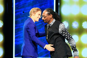 Honoree Justin Bieber (L) and rapper Snoop Dogg onstage at The Comedy Central Roast of Justin Bieber at Sony Pictures Studios on March 14, 2015 in Los Angeles, California. The Comedy Central Roast of Justin Bieber will air on March 30, 2015 at 10:00 p.m. ET/PT.