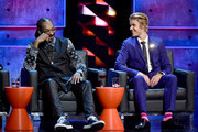Rapper Snoop Dogg (L) and honoree Justin Bieber onstage at The Comedy Central Roast of Justin Bieber at Sony Pictures Studios on March 14, 2015 in Los Angeles, California. The Comedy Central Roast of Justin Bieber will air on March 30, 2015 at 10:00 p.m. ET/PT.