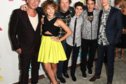 (L-R) Actors Sean Pertwee, Camren Bicondova, Donal Logue, David Mazouz, Robin Lord Taylor and Cory Michael Smith attend the 20th Century Fox party during Comic-Con International 2015 at Andaz Hotel on July 10, 2015 in San Diego, California.