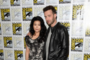 Actors Jadyn Wong (L) and Eddie Kaye Thomas attend the CBS Television Studios press room during Comic-Con International 2015 at the Hilton Bayfront on July 9, 2015 in San Diego, California.