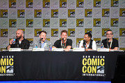 "(L-R) Writer Craig Sweeny, director Marc Webb, actors Jake McDorman and Hill Harper, and executive producer Alex Kurtzman speak onstage at the CBS TV Studios' panel for ""Limitless"" during Comic-Con International 2015 at the San Diego Convention Center on July 9, 2015 in San Diego, California."