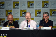 (L-R) Writer Matt Weitzman, actor Mike Henry and writer Rich Appel speak onstage at the Seth MacFarlane Animation Block during Comic-Con International 2015 at the San Diego Convention Center on July 11, 2015 in San Diego, California.