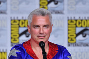 John Barrowman speaks onstage at The Great Debate panel hosted by SYFY WIRE during Comic-Con International 2018 at San Diego Convention Center on July 19, 2018 in San Diego, California.