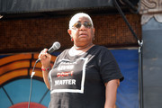 Luenell speaks onstage at Comic and Hollywood Communities Coming Together to Mark Juneteenth Anniversary of Freedom on June 19, 2020 in West Hollywood, California.