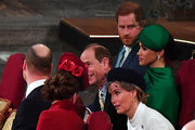 Prince William, Duke of Cambridge, Catherine, Duchess of Cambridge, Prince Harry, Duke of Sussex, Meghan, Duchess of Sussex, Prince Edward, Earl of Wessex and Sophie, Countess of Wessex attend the Commonwealth Day Service 2020 on March 9, 2020 in London, England.