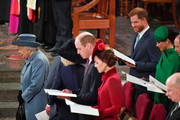 Queen Elizabeth II, Prince William, Duke of Cambridge, Catherine, Duchess of Cambridge, Prince Harry, Duke of Sussex, Meghan, Duchess of Sussex, Prince Edward, Earl of Wessex and Sophie, Countess of Wessex attend the Commonwealth Day Service 2020 on March 9, 2020 in London, England.