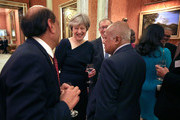 Prime Minister Theresa May attends a reception to celebrate the Commonwealth Diaspora community, in the lead up to the Commonwealth Heads of Government meeting in London this April, at Buckingham Palace on February 14, 2018 in London, England.
