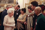 Queen Elizabeth II hosts a reception to celebrate the Commonwealth Diaspora community, in the lead up to the Commonwealth Heads of Government meeting in London this April, at Buckingham Palace on February 14, 2018 in London, England.