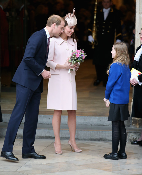 Catherine, Duchess of Cambridge and Prince William, Duke of Cambridge leave the Observance for Commonwealth Day Service at Westminster Abbey on March 9, 2015 in London, England.
