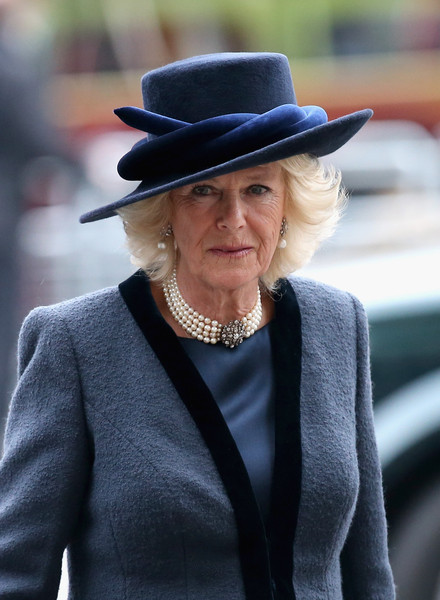 Camilla, Duchess of Cornwall attends the Observance for Commonwealth Day Service At Westminster Abbey on March 9, 2015 in London, England.