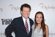 "New York Times columnist Nicholas D. Kristof and author Somaly Mam attend the Conde Nast Traveler Celebration of ""The Visionaries"" and 25 Years of Truth In Travel at Alice Tully Hall on September 18, 2012 in New York City."
