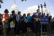 Sen. Chris Murphy (D-CT) speaks during a press conference on gun safety on Capitol Hill on May 3, 2017 in Washington, DC.