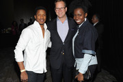 (L-R) Nate Parker, Vice President of Marketing for Conrad Hotels Stuart Foster and Adepero Oduye attend Conrad Hotels & Resorts hosts the Tribeca Film Festival Awards Ceremony at Conrad New York on April 24, 2014 in New York City.