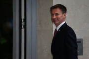 Secretary of State for Foreign Affairs, Jeremy Hunt arrives for the Conservative Leadership televised debate on June 18, 2019 in London, England. Emily Maitlis hosts the second of the televised Conservative Leadership debates for the BBC. Boris Johnson, Michael Gove, Jeremy Hunt, Rory Stewart and Sajid Javid made it through the second ballot while Dominic Raab did not. The third ballot will be held tomorrow, (Wednesday).