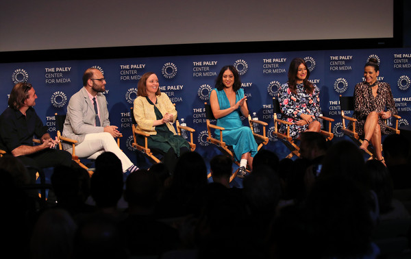 The Paley Center For Media's 2019 PaleyFest Fall TV Previews - Amazon - Inside [paleyfest fall tv previews - amazon - inside,event,performance,convention,crowd,audience,stage,adaptation,performing arts,music,news conference,angelique cabral,constance marie,rosa salazar,raphael bob-waksberg,kate purdy,hisko hulsing,stage,l-r,paley center for media]