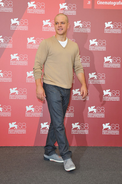 "Actor Matt Damon poses at the ""Contagion"" photocall during the 68th Venice Film Festival at the Palazzo del Cinema on September 3, 2011 in Venice, Italy."