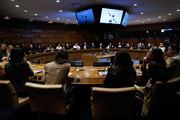 Guests attend In Conversation with Michael Kors, Lupita Nyong'o, and the World Food Programme at United Nations Headquarters on October 21, 2019 in New York City.