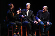 (L-R) Ringo Starr, David Lynch, and Henry Diltz speak onstage during the In Conversation Panel for 'Another Day In The Life' with Ringo Starr, David Lynch and Henry Diltz at Saban Theatre on October 29, 2019 in Beverly Hills, California.