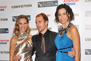"""Actress Hilary Swank, actor Sam Rockwell and actress Minnie Driver attend the Gala Premiere of """"Conviction"""" during the 54th BFI London Film Festival at the Vue West End on October 15, 2010 in London, England."""