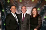 (L-R)   Larry Witt, Elvis Duran and Gretchen Witt pose at Cookies For Kid's 3rd Annual Chefs For Kid's Cancer Benefit at the Metropolitan West on February 23, 2016 in New York City.