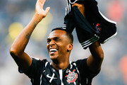 Jo of Corinthians celebrates after winning the Brasileirao Series A 2017 against Fluminense at Arena Corinthians Stadium on November 15, 2017 in Sao Paulo, Brazil.