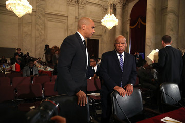 Cory Booker Sen. Jeff Sessions Continues His Senate Confirmation Hearings To Become Attorney General