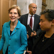 Cory Booker Elizabeth Warren Holds Press Conference Opposing Supreme Court Nominee Kavanaugh