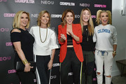 (L-R) Ramona Singer, Carole Radziwill, Cosmopolitan Editor-in-Chief Michele Promaulayko, Heather Thomson, and Tinsley Mortimer attend the opening of fitness space NEO U on February 22, 2018 in New York City.