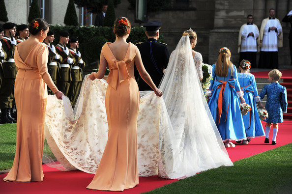 The Wedding Of Prince Guillaume Of Luxembourg & Stephanie de Lannoy - Official Ceremony [stephanie,guillaume of luxembourg stephanie de lannoy - official ceremony,jehan de lannoy,prince,belgian countess,guillaume of luxembourg,gown,dress,clothing,red carpet,fashion,event,haute couture,carpet,flooring,tradition,luxembourg,wedding,wedding ceremony,ceremony]