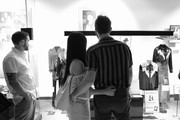 Image has been converted to black and white.) Ruston Kelly and Kacey Musgraves attend the Country Music Hall of Fame and Museum opening of new exhibition, Kacey Musgraves: All of the Colors, at Country Music Hall of Fame and Museum on July 01, 2019 in Nashville, Tennessee.