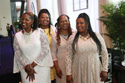 Alfreda McCrary, Deborah McCrary, Ann McCrary and Regina McCrary of The McCrary Sisters at Easter Brunch With The McCrary Sisters at Country Music Hall of Fame and Museum on March 27, 2016 in Nashville, Tennessee.