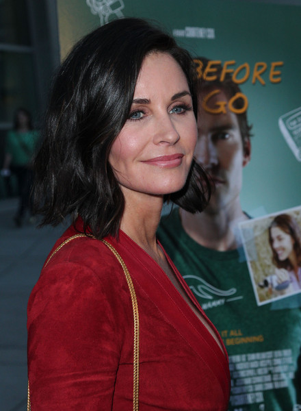 Screening of 'Just Before I Go' - Red Carpet [just before i go,hairstyle,beauty,long hair,black hair,brown hair,girl,hair coloring,smile,flooring,premiere,courteney cox,screening,arclight hollywood,california,anchor bay entertainment,red carpet,screening]