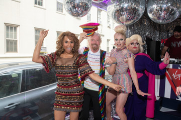 Courtney Act Sir Richard Branson Celebrates Pride And announcement Of LGBTQ+ Virgin Voyages Charter With Atlantis Events