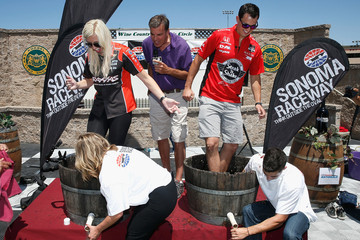 Courtney Force The Sonoma Raceway Media Event With Graham Rahal and Courtney Force