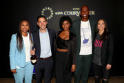 (L-R) Jemele Hill, Benoît De Sutter, Taylor Rooks, Al Harrington, and Sue Bird attend Courvoisier Cognac And UNINTERRUPTED Partner On First-Of-Its-Kind, Live Storytelling Event And Content Series at Goya Studios on July 09, 2019 in Los Angeles, California.