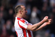 Charlie Adam of Stoke City celebrates scoring the first Stoke goal during the The Emirates FA Cup Third Round match between Coventry City and Stoke City at Ricoh Arena on January 6, 2018 in Coventry, England.