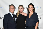 CEO and Founder, DuJour Jason Binn, Kim Peiffer and Fryda Lidor attend the DuJour Fall issue cover party with Mandy Moore at TAO Downtown on September 24, 2018 in New York City.
