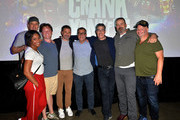 "Tiffany Haddish, Kevin Nealon, Daniel Kellison, Jimmy Kimmel, Kent Alterman, Adam Carolla, Jonathan Kimmel and Jeff Ross attend the ""Crank Yankers"" 2019 Premiere Party at Two Bit Circus on September 24, 2019 in Los Angeles, California."